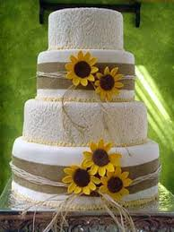 sunflower wedding decorations yellow sunflower wedding cakes