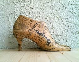 ornaments recycled rustic vintage newspaper eco