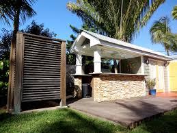 outdoor kitchen u0026 shower barracuda builders key west florida