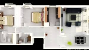 House Design Plans by Fine Simple House Plan With 2 Bedrooms 3d For Ideas