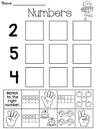 free worksheets worksheets on numbers for kindergarten free