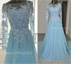 light blue long sleeve dress modern elsa prom dress random fangirling pinterest long prom