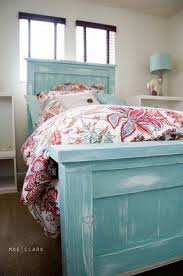 Turquoise Bed Frame Distressed White Bed Foter