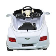white bentley cars bentley gtc kids 12v electric ride on toy car w parent remote