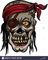 danger pirate skull in bandane for tattoo or t shirt design stock