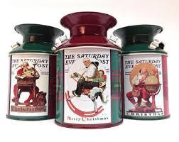 christmas tins tin post box etsy
