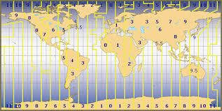 Time Zone Layout | time zones of the world map