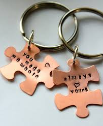 Personalized Gift Ideas by Puzzle Piece Keychain Personalized Valentines Day Gift For