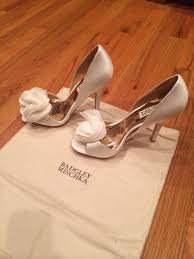 used wedding shoes badgley mischka randall d orsay wedding shoes never worn once wed