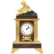 Antique Mantel Clocks Value 19th Century French Empire Antique Bronze Mantel Clock By Caranda