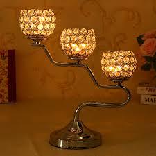 christmas gold crystal candle holders candlesticks candelabra for