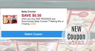 hurry new betty crocker coupon cake mix only 49 the harris