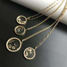 large locket necklace images Diamond small locket pendant zoe lev jewelry jpg
