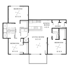 studio apartment floor plan decor