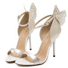 wedding shoes pumps 2015 women butterfly sandals wedding shoes high heel party