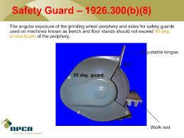 Bench Grinder Guard Requirements Power Tool Safety By Npca