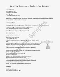 quality control technician resume sample resume for study