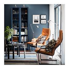 Glass Bookcase With Doors Billy Bookcase With Glass Doors Dark Blue Ikea