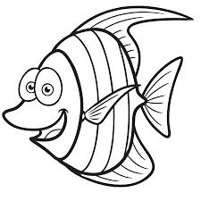 dessin petit poisson rigolo a colorier coloriages pinterest