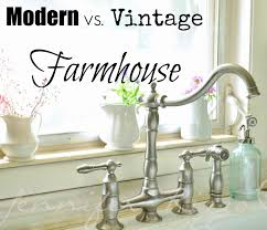 the difference between modern vs vintage farmhouse kitchen