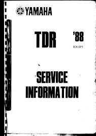 yamaha tdr 250 service manual 1988 documents