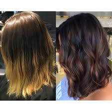 low light hair color balayage low light winterizing hair color before and after hair