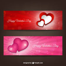 happy valentines day banner happy s day banners vector free