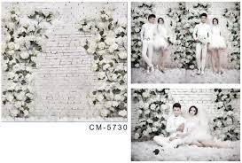 Wedding Backdrop Background Wedding Backdrop White Brick Wall Flowers Wedding Background
