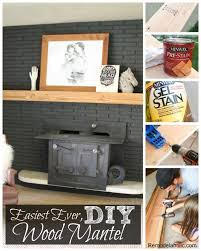 How To Lay Brick Fireplace by Remodelaholic Easy Wood Mantel For Brick Fireplace