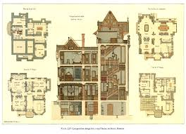 19th Century Floor Plans Sensational Ideas 9 Historic House Plans Designs Victorian Arts