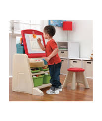 flip and doodle desk buy step2 flip and doodle easel desk with stool at argos co uk