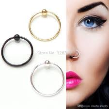 piercinguri online 2018 wholesale 316l steel nose ring open nose ring surgical