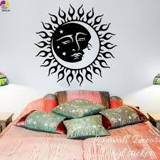 boho sun and moon wall sticker bedroom living room