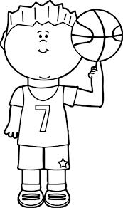 child player balancing basketball on finger playing basketball