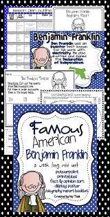benjamin franklin famous american powerpoint u0026 printables
