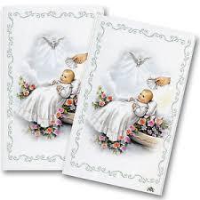 baptism christening custom remembrance personalized prayer cards