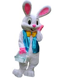 easter bunny costume zyzb deluxe plush easter bunny mascot costume bunny