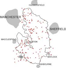 Sheffield England Map by The Peak District U2013 Peak District Air Accident Research