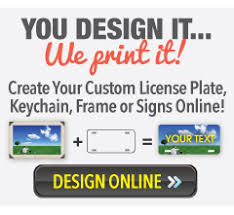 personalized photo plate personalized make your own custom license plate tag and signs