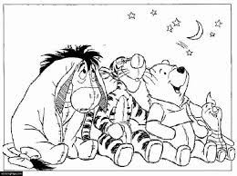 winnie pooh eeyore tigger piglet printable coloring