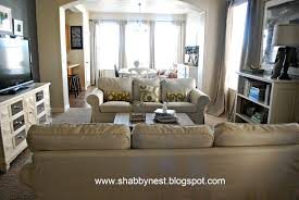 the shabby nest living room spruce up the reveal 4 10 2012