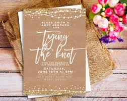 wedding invitations the knot tie the knot invite etsy