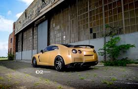 gold nissan car d2forged nissan gt r in one of a kind matte gold exterior