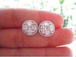 gold earrings philippines 7 00 carat illusion diamond white gold earrings 18k jewelry