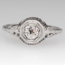 filigree engagement rings old mine cut diamond 1940 u0027s filigree engagement ring 18k gold
