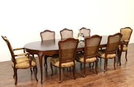 Country French Dining Room Tables Sold Baker Cherry Country French Dining Set Table 2 Leaves 8