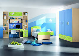 Bedroom Wall Colour Grey Nice Looking Bedroom Design With Large Blue Wardrobe And Blue Wall