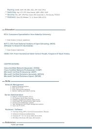 Sample Resume For Ccna Certified by Ccna Resume
