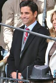 john stamos is all smiles on my big fat greek wedding 2 set after