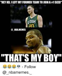 hey kd i left my former team to join a 1 seed utah an nbamemes